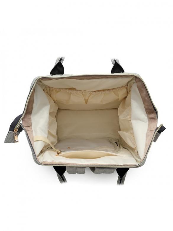 Γκρι/Μαύρη Τσάντα για βόλτα μωρού