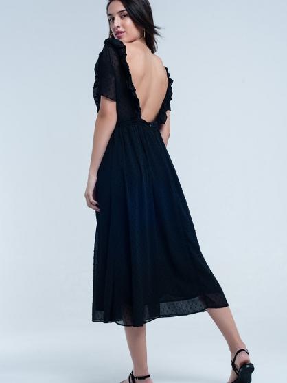 μαύρο-μακρυ-φορεμα-ξωπλατο-Vintage-boho-romantic