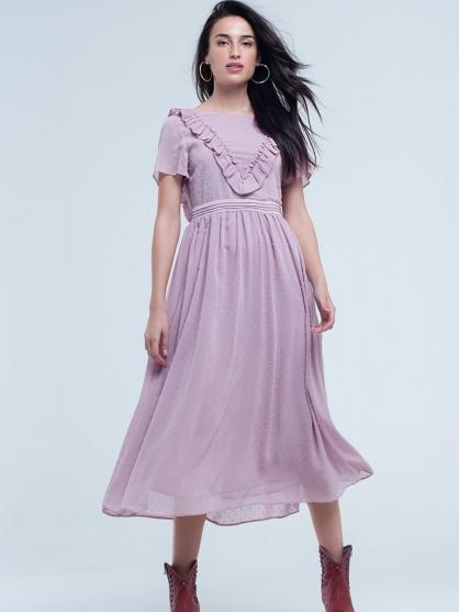 ροζ-μακρυ-φορεμα-ξωπλατο-Vintage-boho-romantic-2