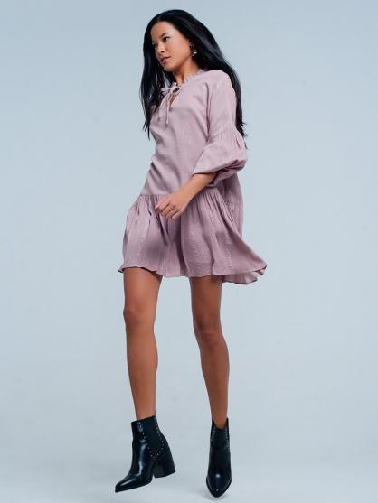 ροζ-φορεμα-lurex-Metallic-2