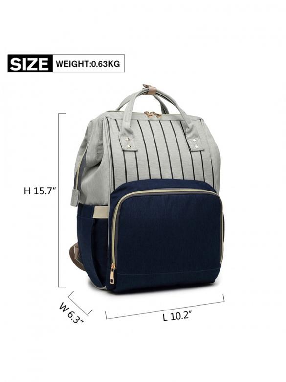 Γκρι/Μπλε Τσάντα για βόλτα μωρού