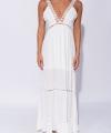 Λευκό Φόρεμα Μακρύ
