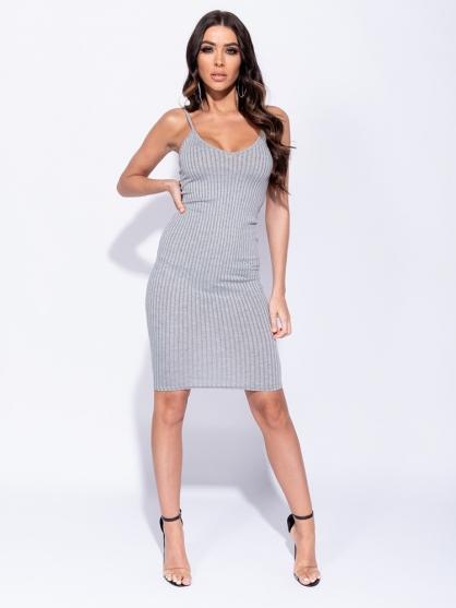 μακο-φορεμα-γκρι-σεξυ-καλοκαιρινο-1