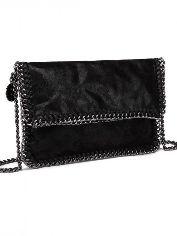 Bite me Mαύρη Τσάντα με Αλυσίδα