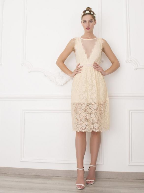 2f4c1a3791f Pretty Μίντι Φόρεμα Δαντέλα