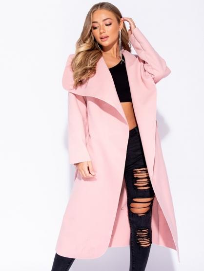 ροζ-παλτο-με-γιακα-και-ζωνη-μακρυ