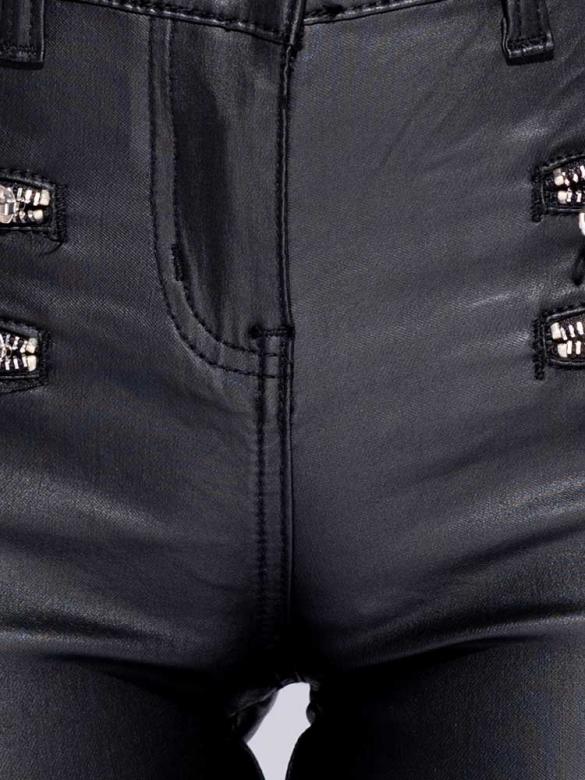 Rock Δερμάτινο Παντελόνι