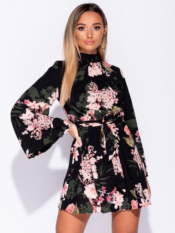 Φλοράλ φόρεμα μίνι