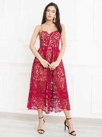 φορεμα-κοκκινο-δαντελα-μακρυ-3