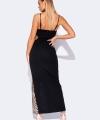 Φόρεμα Μακρύ Μαύρο με Παγιέτες