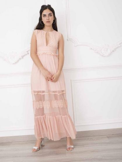 φορεμα-ροζ-μακρυ-αερινο