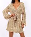 Χρυσό Φόρεμα Μίνι