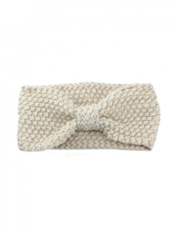 Ivory Κnitted Bow