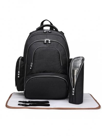 backpack-καροτσι-τσαντα-αλλαξιερα-μωρο-μαυρη-5