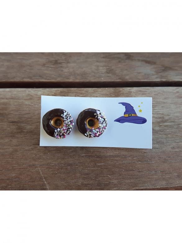 Chocolate Donuts Σκουλαρίκια