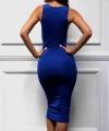 Μπλε Μίντι Φόρεμα