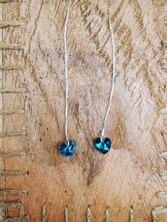 Blue Heart σκουλαρίκια