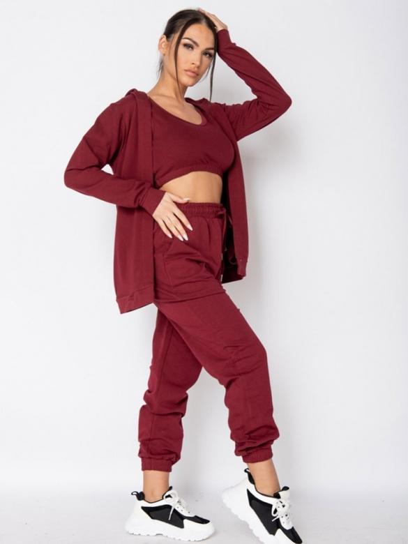 Μπορντό Φόρμες Loungewear