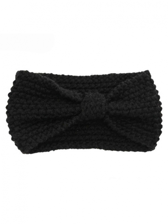 Black Knitted Bow