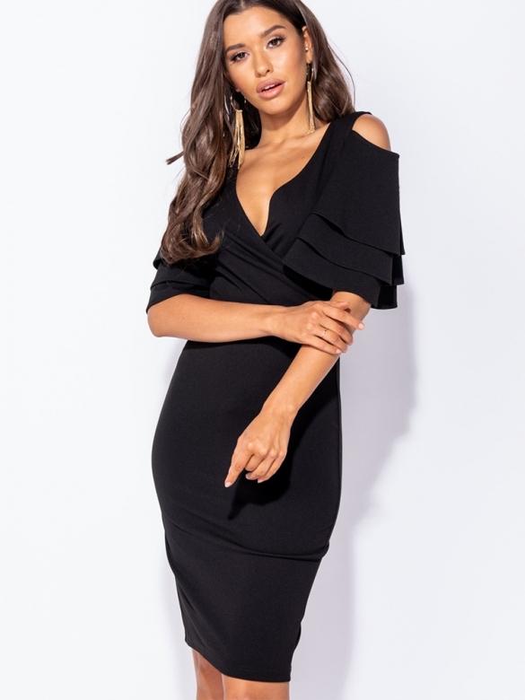 Μαύρο Φόρεμα Midi