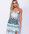 Μακρύ φόρεμα με γεωμετρικά μοτίβα