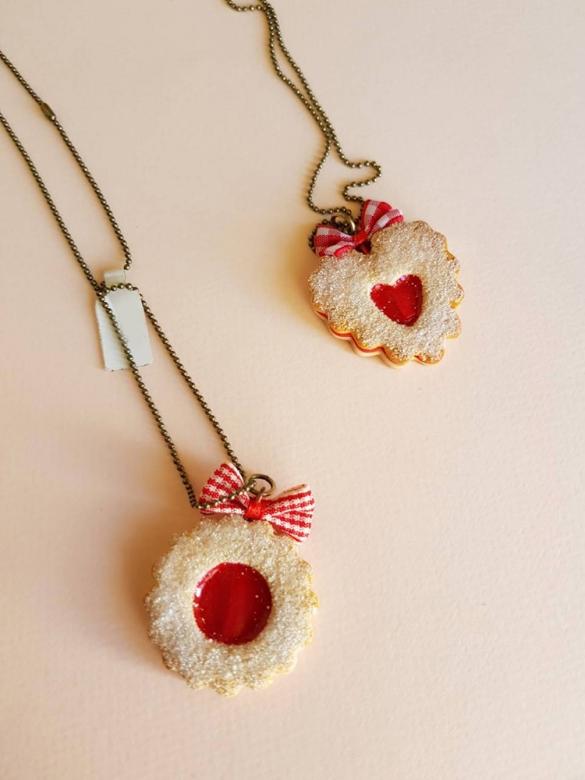 Μπισκότο Φράουλα Καρδιά Κρεμαστό
