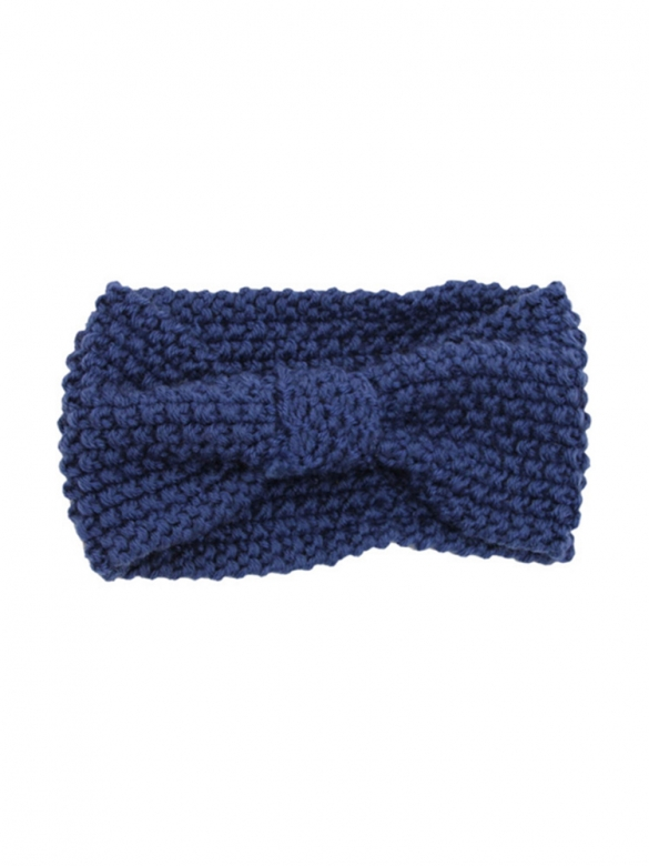 Blue Knitted Bow