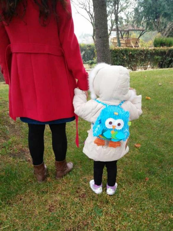 Παιδική Τσάντα Μπλε Πουλάκι