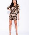 Trend Animal Print Φόρεμα/Πουκαμίσα