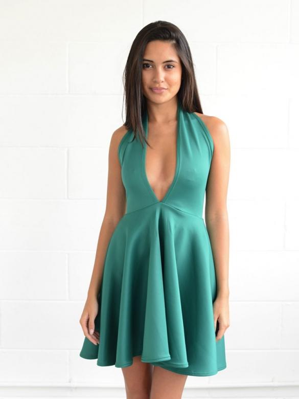 Θαλασσί Φόρεμα Ξώπλατο
