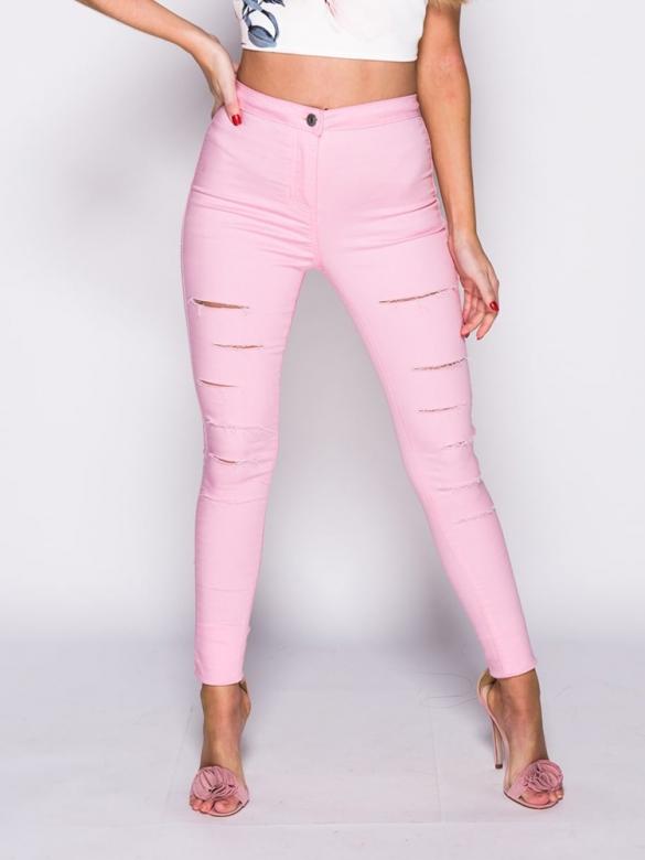Pretty in pink Τζιν με Σκισίματα