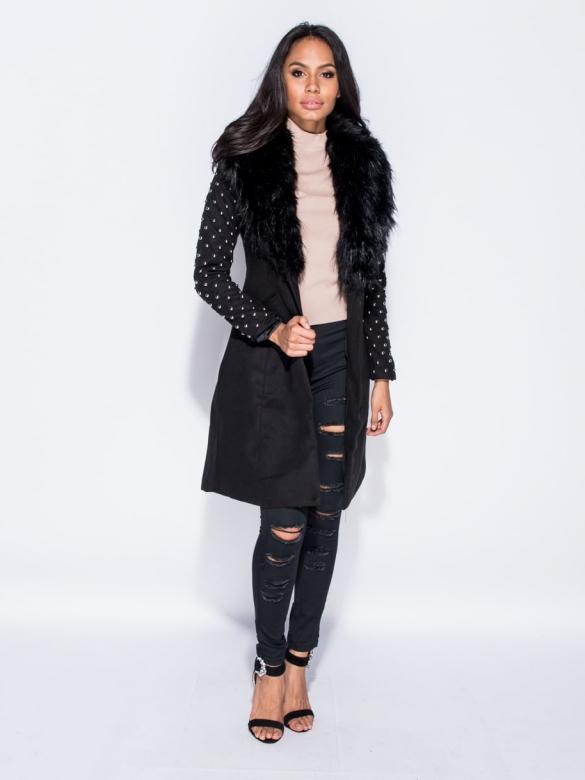 Foxy Μαύρο Παλτό