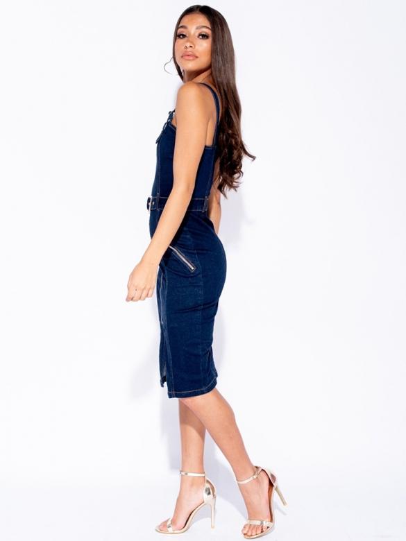Τζιν Φόρεμα Midi