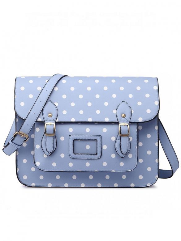 Light Blue Dotty Τσάντα
